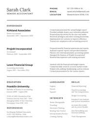 Sample Photography Resume by Traditional Accountant Resume Templates By Canva