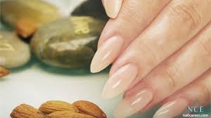 almond shaped acrylic nails step by step tutorial technique