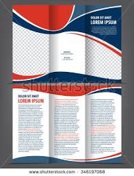 vector empty trifold brochure template design stock vector