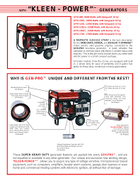 kleen power generators why is gen pro unique and different
