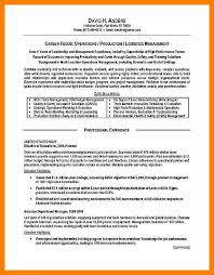 Ehs Resume 5 Resume Format For Logistics Job Quotation Samples