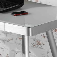Schreibtisch 1 20 M Breit Retro Schreibtisch Isa Aus Aluminium 120 Cm Wohnen De