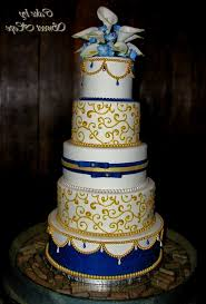 royal blue and gold wedding cakes decorating of party