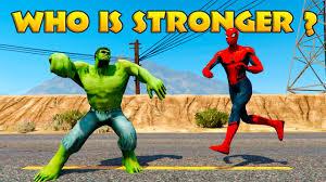 hulk vs spiderman epic battle cartoon for kids and children