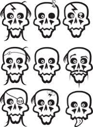 halloween skulls wall decals dezign with a z
