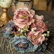 vintage bouquet vintage bouquet beautiful home decorative artificial flowers silk