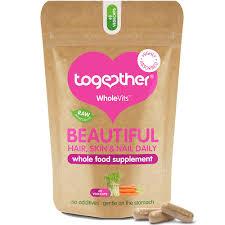together wholevt beautiful hair skin u0026 nail 60 capsules