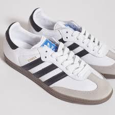 white samba adidas samba og white black gum less 17