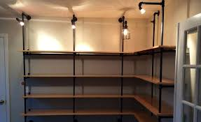 How To Make A Pipe Bookshelf Diy Lighted Pipe Shelving 1 5 2015 Cool Material