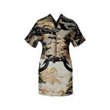 tree motif satin lurex jacquard dress ready to wear louis