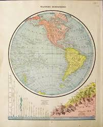 Map Of Western Hemisphere Prints Old U0026 Rare Comparative Maps Page