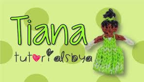 Tutorials By A Disney Princess Series Tiana Rainbow Loom Figurine Tutorial Youtube