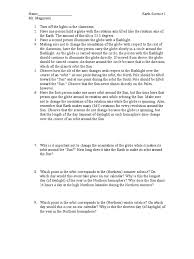 Motion Worksheets Earth Motion And Seasons Worksheet Rotation Earth