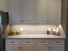 Kitchen Glass Backsplash Backsplashes Under Cabinet White Oven Gray Glas Tile Backsplash