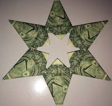 dollar bill origami 5 or 6 point money star 18 steps with pictures