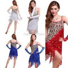 latin fringe dress ebay