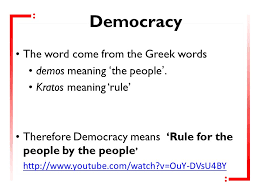 key question 2 does democracy work revision democracy the word