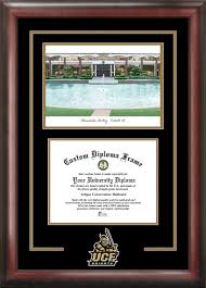 ucf diploma frame of central florida administrative building lithograph