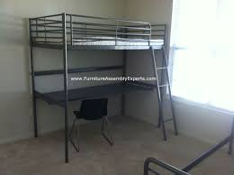 Ikea Loft Bunk Bed Bedroom Glamorous Ikea Loft Bed With Desk Assembled In