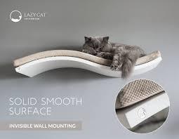 cat shelf wall mounted cat shelf white curved shelf cat