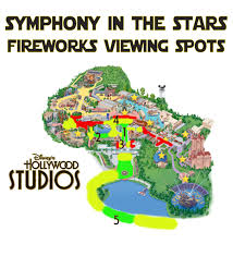 Disney World Florida Map by Best Disney U0027s Hollywood Studios Fireworks Spots Disney Tourist Blog