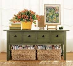 Green Console Table Distressed Buffet Table Foter