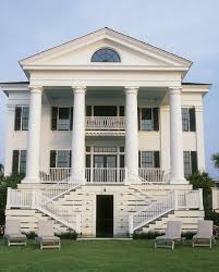 greek revival house plans exterior traditional with white porch