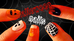 5 easy halloween nail designs youtube