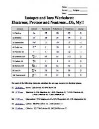 isotope and ions practice worksheet name mr massey u0027s website