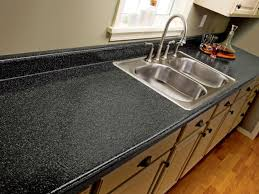 Black Kitchen Countertops by How To Paint Laminate Kitchen Countertops Diy