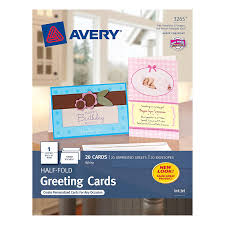 amazon com avery half fold greeting cards for inkjet printers