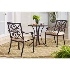 Wrought Iron Bistro Chairs Bistro Sets Patio Dining Furniture The Home Depot