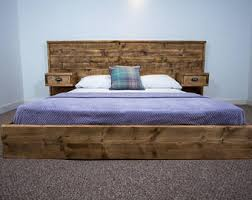 Platform Bed Uk Platform Bed Etsy