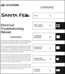 hyundai santa fe service intervals 2006 hyundai santa fe electrical troubleshooting manual original