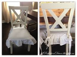 Shabby Chic Dining Room Chair Cushions by 2perfection Decor X Back Dining Chairs Makeover With White