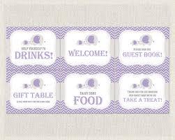 purple gray elephant theme baby shower 6 x 8x10 party
