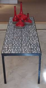 Eames Bistro Table Mid Century Modern Roger Capron Tile Table French Modern 1950s