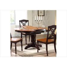 round pedestal dining table with butterfly leaf iconic furniture round dining table with 18 leaf sears marketplace