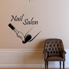 fashion nail salon wall decal nail polish modern vinyl wall