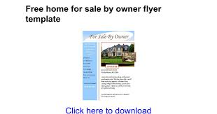 free home for sale by owner flyer template google docs