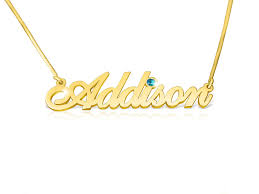Gold Chain With Name Gold Name Chain Real Gold Name Necklace With Name And Addison