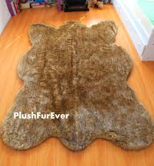 ideas faux fur area rug fake bear skin rug how to make a bear rug