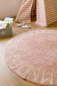 Pink Rug Nursery Abc Round Washable Rug U2013 Vintage Pink Parade And Company
