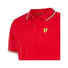 ferrari clothing men 2017 italy scuderia ferrari f1 team men tricolore polo shirt red