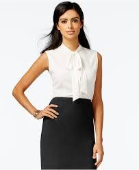 sleeveless tie neck blouse klein sleeveless tie neck blouse tops macy s