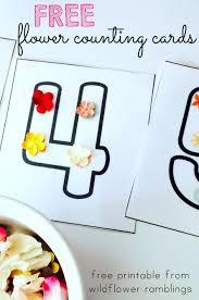 flower counting cards u0026 book free printable wildflower ramblings