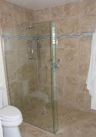 master bath remodel creating a curbless shower pan with wide entry master bath remodel with curbless shower pan and frameless glass splash panel shower faucet with