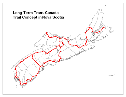 Nova Scotia Canada Map by Halifax Urban Greenway Maps