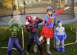 superheroes halloween costumes the burdorf family funzone a superhero halloween