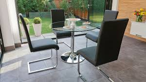 Modern Glass Dining Table Set Fascinating Seater Glass Dining Table Contemporary And Chairs With